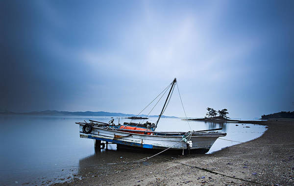Photograph - Beach Fishing Boat by Martin Bennie