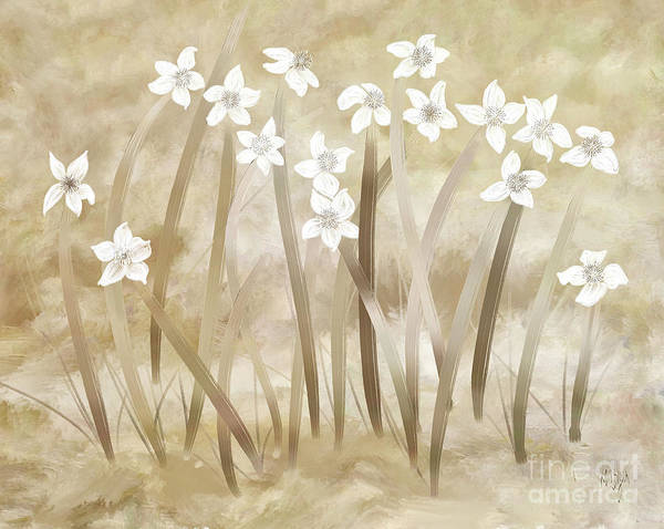Digital Art - Beach Flowers by Lois Bryan