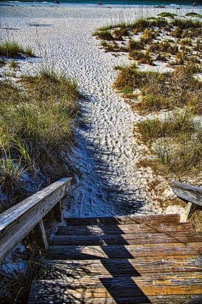 Boca Grande Photograph - Beach Footprints - Boca Grande Florida by Jon Berghoff