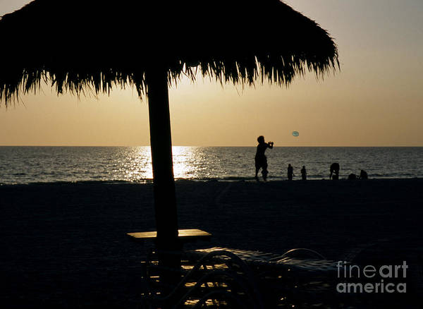 Photograph - Beach Frisbee At Sunset On Marco Island Florida by William Kuta