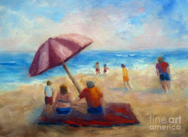 Painting - Beach Fun by Carolyn Jarvis