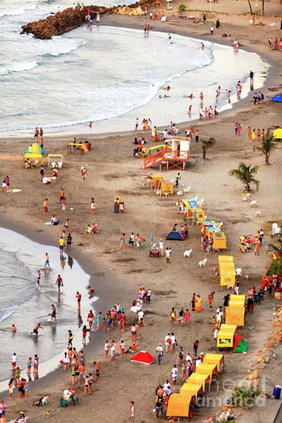 Photograph - Beach Fun In Cartagena by John Rizzuto
