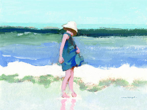 Painting - Beach Girl by J Reifsnyder