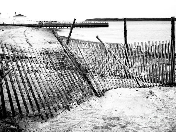 Photograph - Beach Haven Dune Fence On Long Beach Island by John Rizzuto