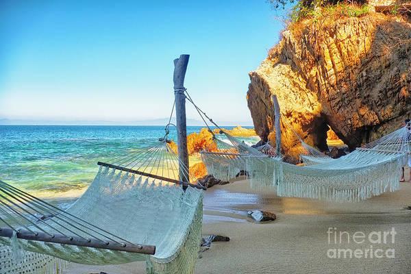 Wall Art - Photograph - Beach Hideaway With Hammocks by George Oze