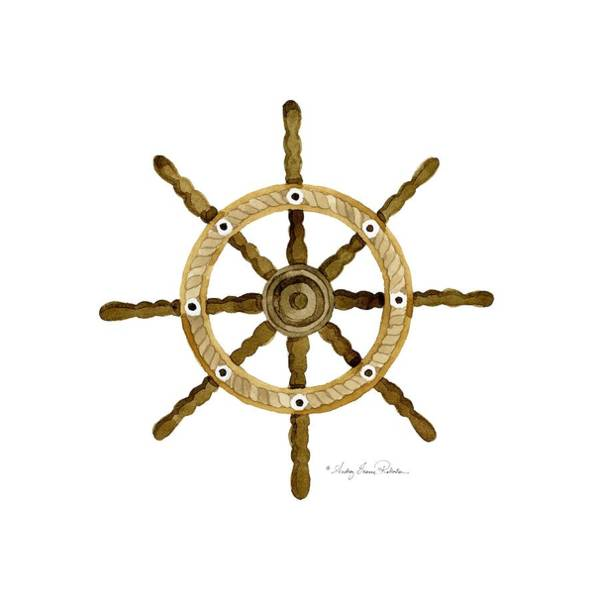 Wall Art - Painting - Beach House Nautical Boat Ship Anchor Vintage by Audrey Jeanne Roberts