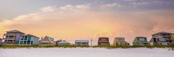 Beach House Sunset Art Print