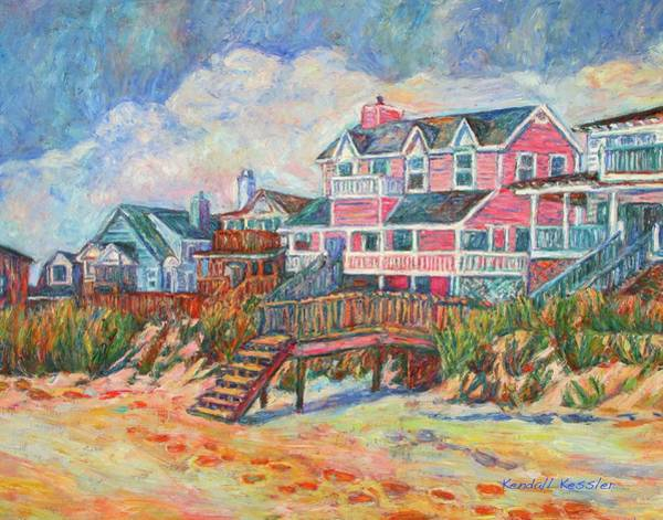 Painting - Beach Houses At Pawleys Island by Kendall Kessler