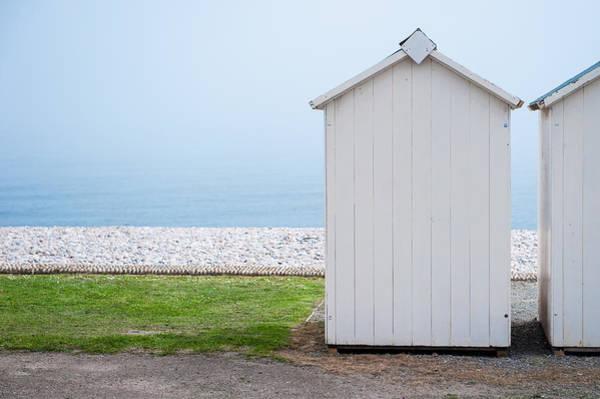 Beach Hut By The Sea Art Print