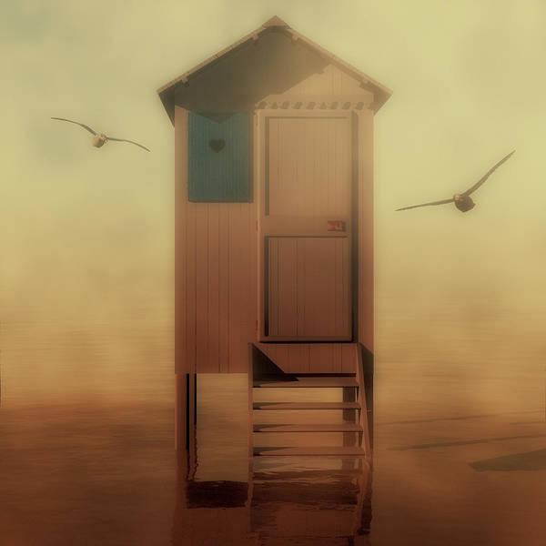 Beach Hut Art Print