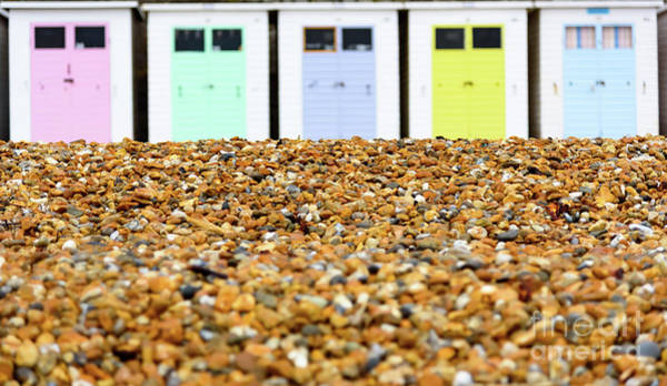 Photograph - Beach Huts And Pebbles by Colin Rayner