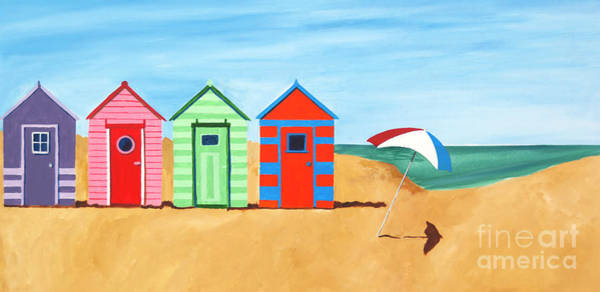 Painting - Beach Huts II by James Lavott