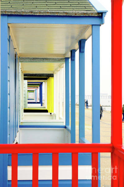 Balcony Photograph - Beach Huts In Southwold by Tom Gowanlock
