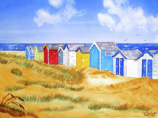 Painting - Beach Huts by Rich Stedman
