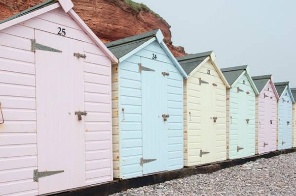 Beach Huts Vi Art Print