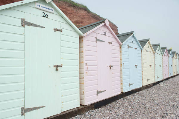 Photograph - Beach Huts Vii by Helen Northcott