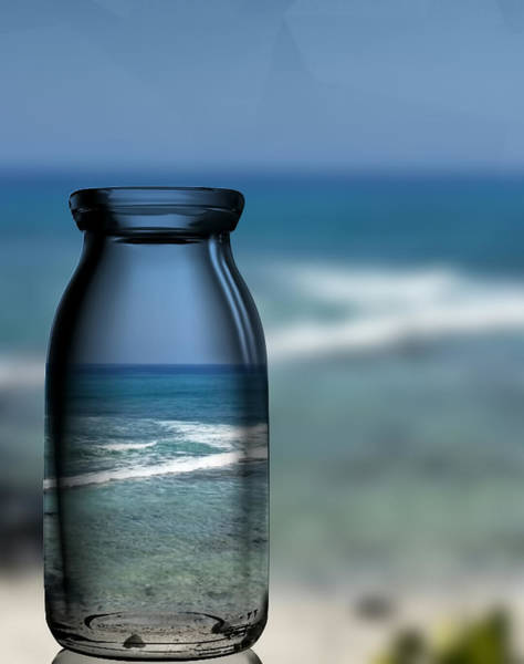 Photograph - Beach In A Bottle by Pamela Walton