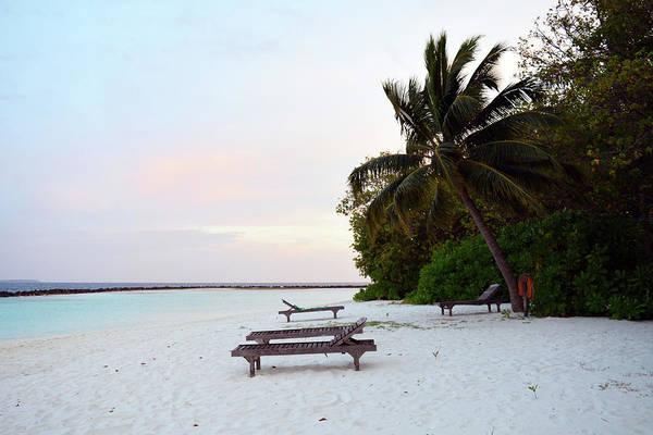 Photograph - Beach In The Maldives At Sunset by Oana Unciuleanu