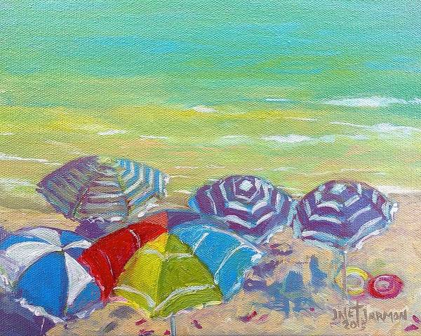 Painting - Beach Is Best by Jeanette Jarmon