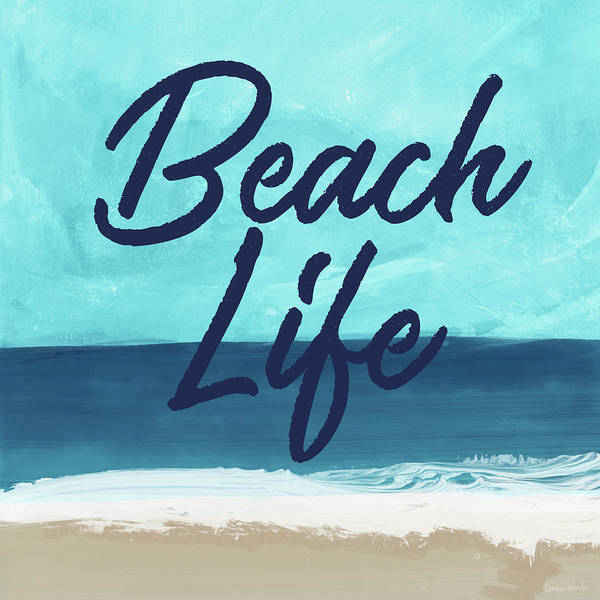 Wall Art - Mixed Media - Beach Life- Art By Linda Woods by Linda Woods