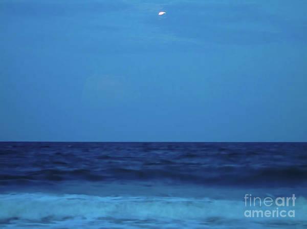 Photograph - Beach Magic With The Moon by D Hackett