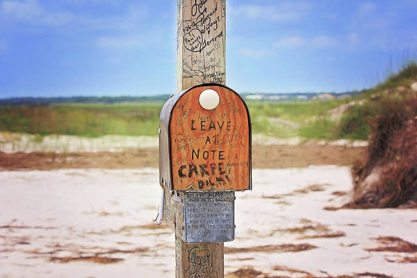 Wrightsville Beach Wall Art - Photograph - Beach Mail by Sharon McConnell