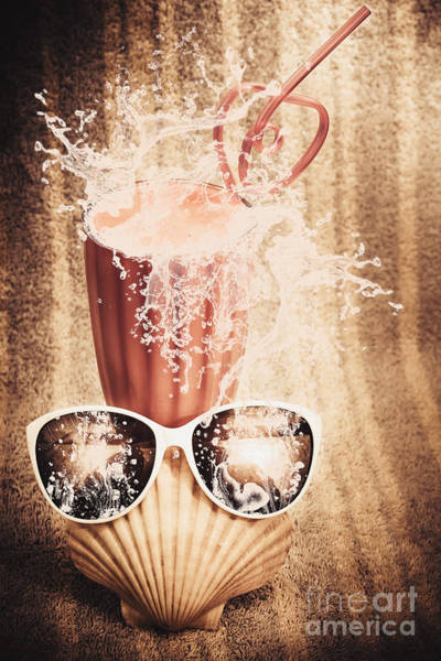 Wall Art - Photograph - Beach Milkshake With A Strawberry Splash by Jorgo Photography - Wall Art Gallery