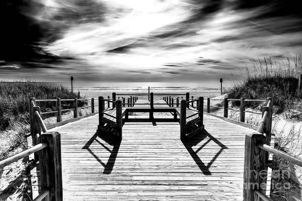 Photograph - Beach Noir At North Myrtle Beach by John Rizzuto