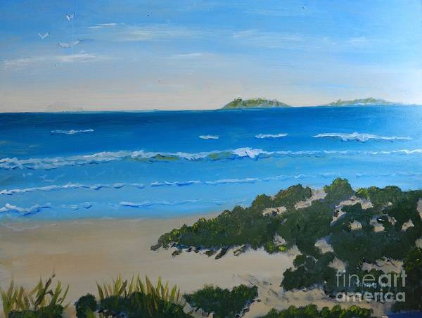 Wall Art - Painting - Beach On The North Coast Of Nsw  by Pamela  Meredith