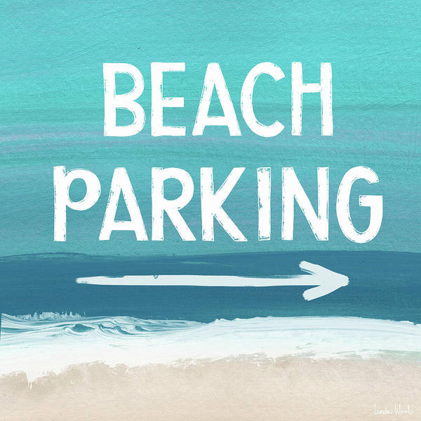 Wall Art - Mixed Media - Beach Parking- Art By Linda Woods by Linda Woods