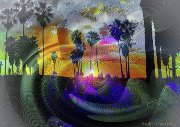 Digital Art - Beach Party by Visual Artist Frank Bonilla
