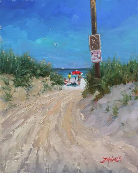 Wall Art - Painting - Beach Path Two by Laura Lee Zanghetti