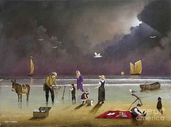 Painting - Beach Picnic by Ken Wood