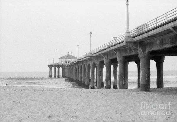 Beach Pier Film Frame Art Print