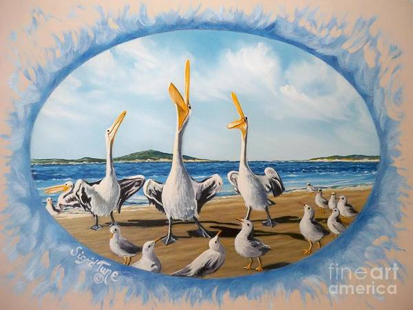 Painting - Privileged. Pelican  Procedure Prevailed   by Sigrid Tune