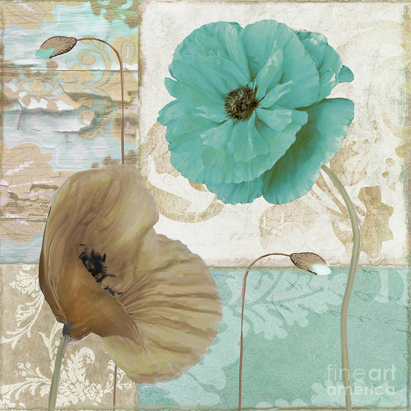 Wall Art - Painting - Beach Poppies IIi by Mindy Sommers
