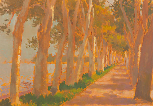 Painting - Beach Promenade 2 by Attila Meszlenyi