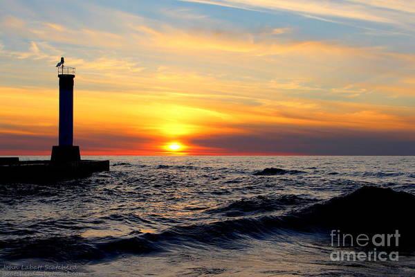 Wall Art - Photograph - Beach Reflection 8 by John Scatcherd