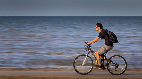Photograph - Beach Rider by James Woody