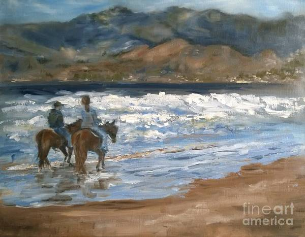 Painting - Beach Riders At Pismo by Lori Pittenger