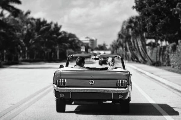 Wall Art - Photograph - Beach Road  - 1965 Mustang  by Laura Fasulo
