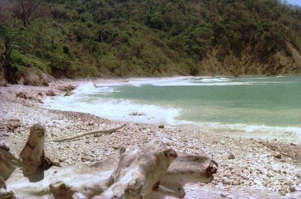 Photograph - Beach Rock Waves Costa Rica by Ted Pollard