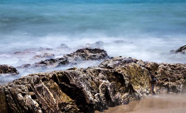 Photograph - Beach Rocks And Surf by Georgia Fowler