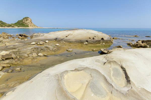 Stone Wall Art - Photograph - Beach Rocks In Karpasia, Island Of Cyprus by Iordanis Pallikaras