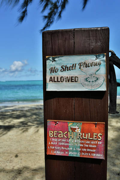 Beach Rules Art Print