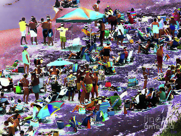 Photograph - Beach Scene Solarized by Jeff Breiman