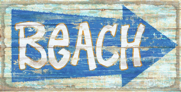Painting - Beach Sign by James Piazza