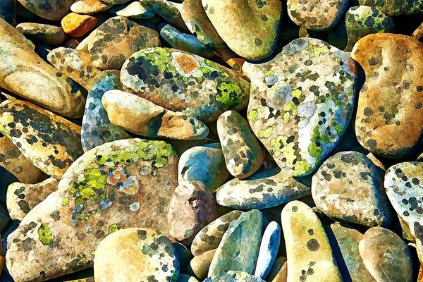 Photograph - Beach Stones by Tatiana Travelways