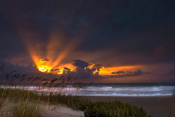 Photograph - Beach Sunrise by Ken Barrett