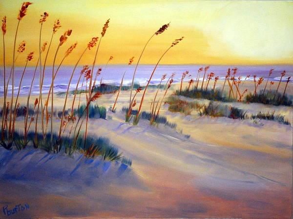 Painting - Beach Sunrise by Phil Burton